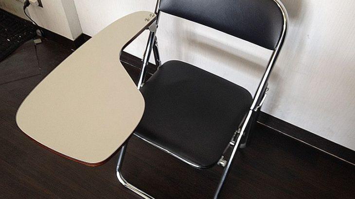 ソーシャルディスタンス対策 メモ台付パイプ椅子を福岡でお探しの方へ!