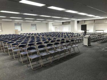 学校・社内行事に必須!パイプ椅子を福岡でレンタル!