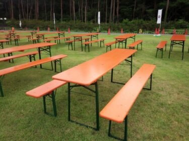 お祭りの飲食スペースに!ビアテーブルセット福岡でレンタルできます!